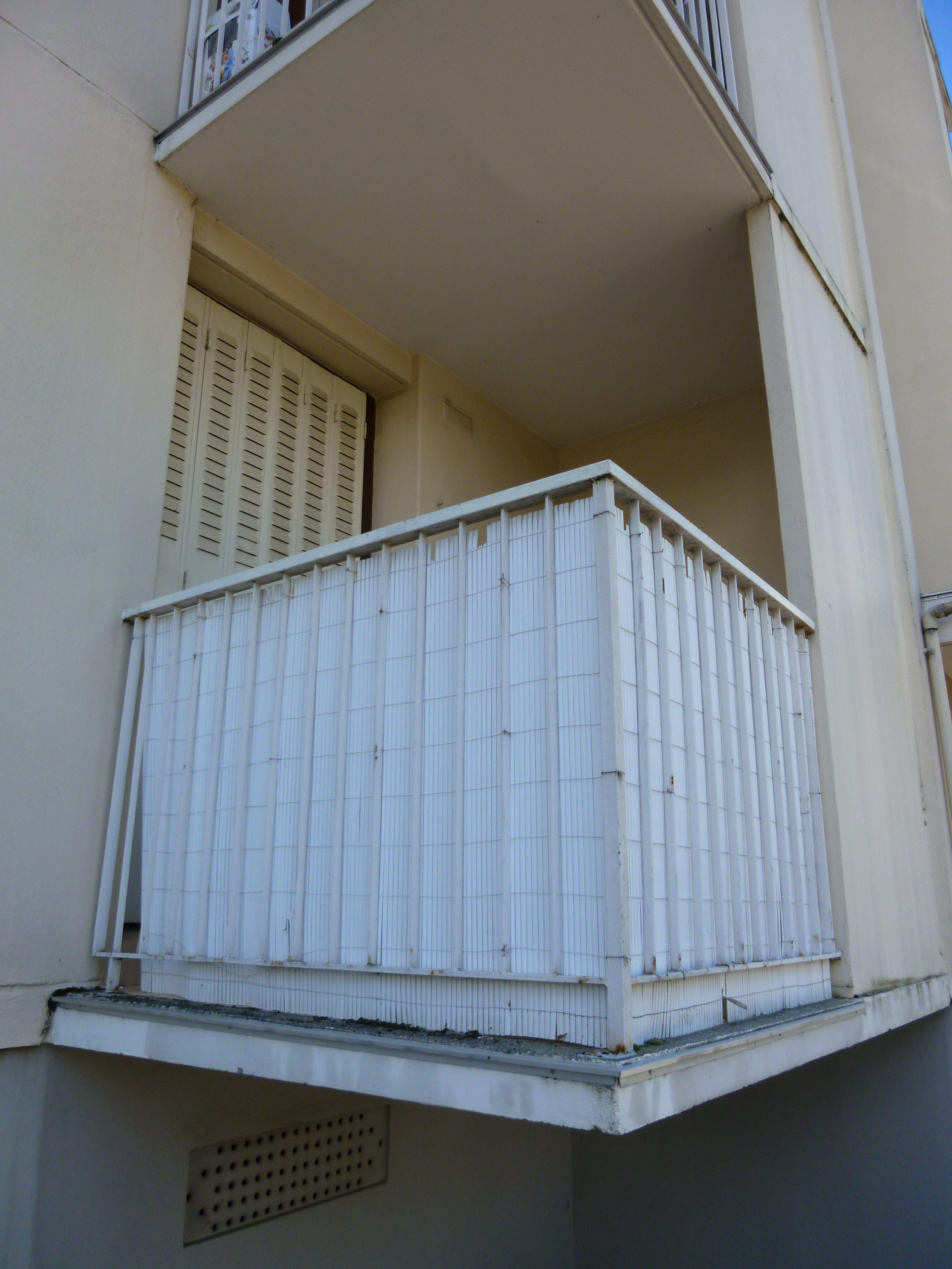 Balcon avant travaux